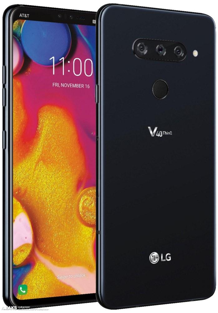 三摄像头+全面屏 LG V40谍照