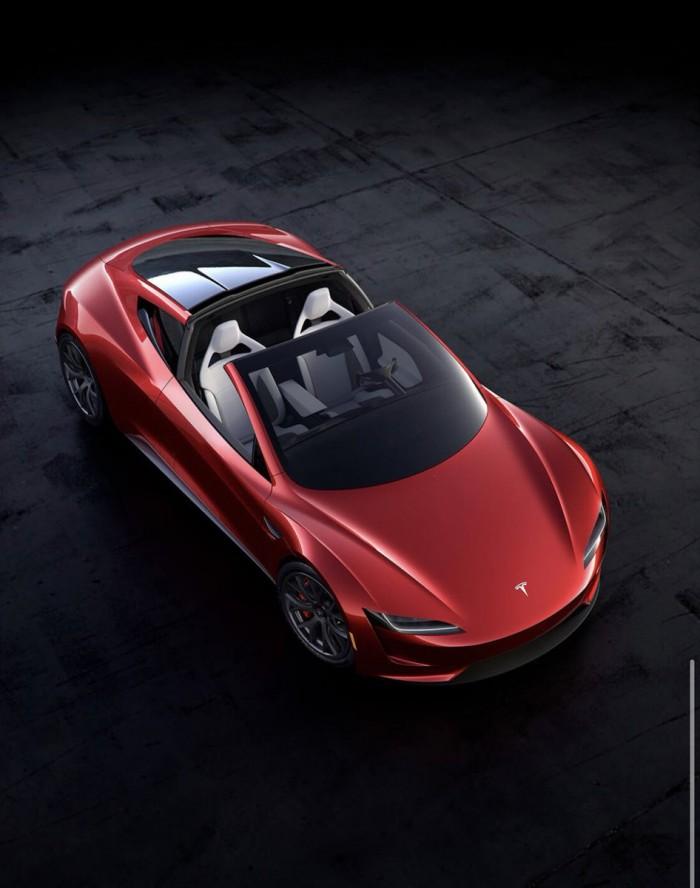特斯拉下一代Roadster原型谍照网络曝光 百公里加速1.9秒