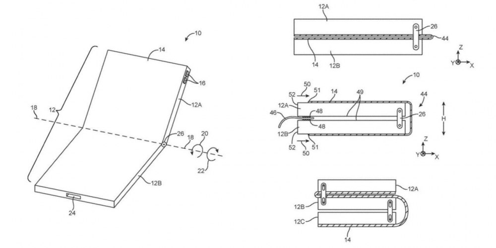 苹果又获得一项跟可折叠iPhone相关的专利