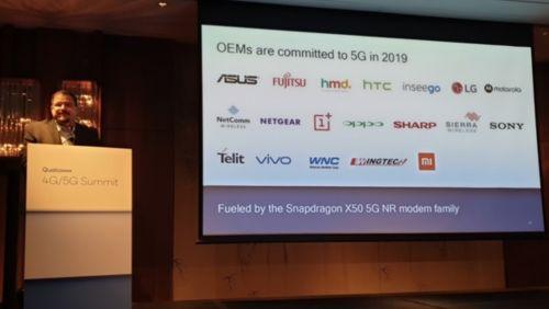 高通公布2019年首批骁龙X50 5G基带OEM厂商名单