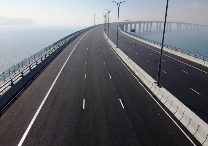 太空看港珠澳大桥:从无到有的震撼