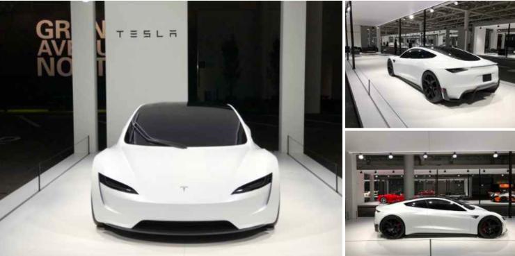 特斯拉新一代Roadster跑车户外照再度曝光