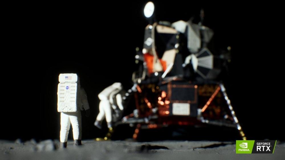 NVIDIA RTX实时渲染证明阿波罗登月的真实性