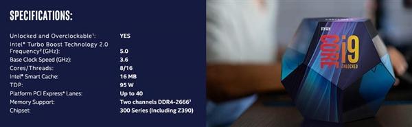i9-9900K单盒零售价实为580美元