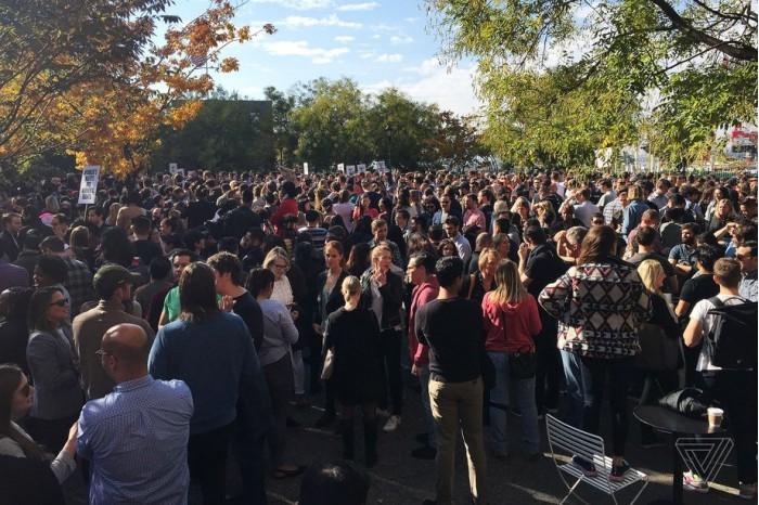 组织者:总共有2万多名职工参加了谷歌大型罢工活动