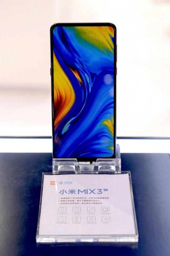 搭载骁龙855处理器,5G版小米MIX3亮相中移动合作伙伴大会