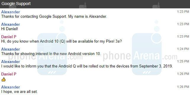 谷歌客服确认Android 10正式版上线时间:9月3日