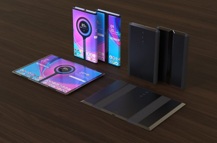 小米双折叠手机高清3D渲染图曝光:手机平板二合一