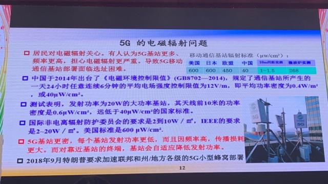 邬贺铨科普5G辐射问题:我国5G基站电磁辐射在安全范围内