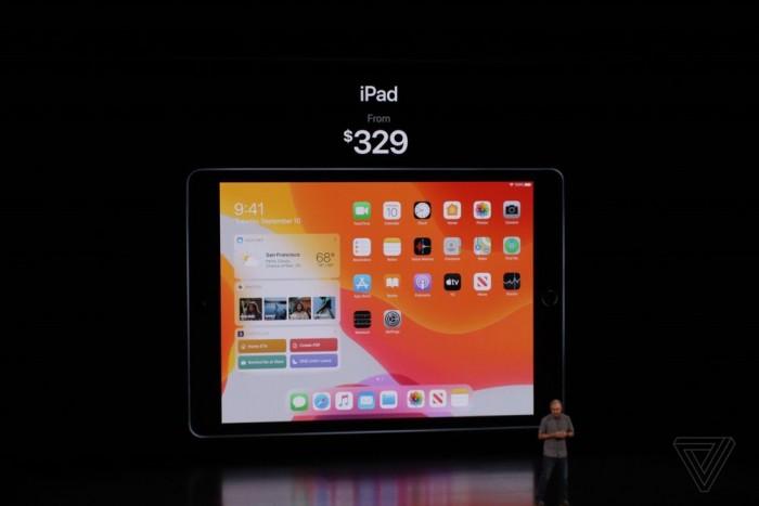 苹果推第7代iPad:10.2英寸Retina屏 售价约2340元起