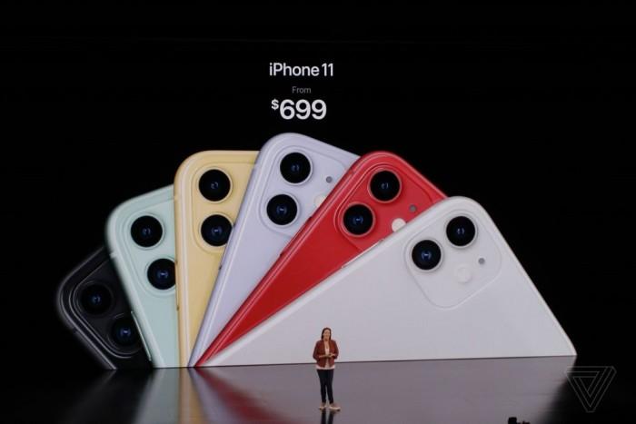 搭载A13处理器 双摄iPhone11售价699美元起