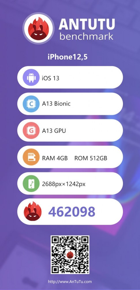 iPhone 11 A13安兔兔跑分曝光:提升33%、全系4GB内存