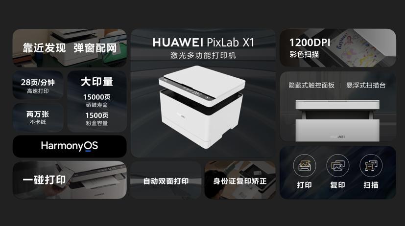 打印可以如此简单 首款搭载HarmonyOS的打印机华为 PixLab X1发布